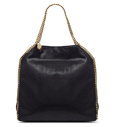 STELLA MCCARTNEY Falabella faux-suede tote (Navy