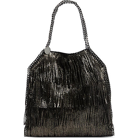 STELLA MCCARTNEY Falabella fringed bag (Black