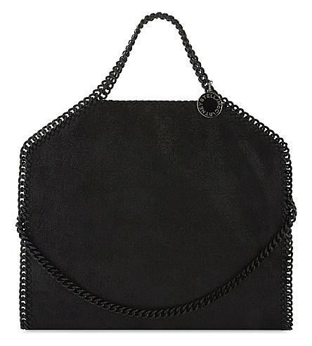 STELLA MCCARTNEY Falabella faux-leather tote (Black+black