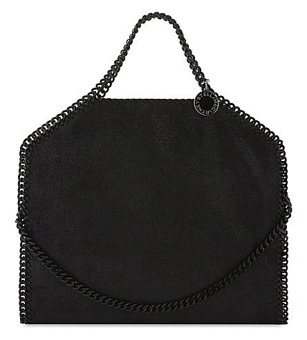 STELLA MCCARTNEY Falabella 仿皮革手提包 (黑色 + 黑色