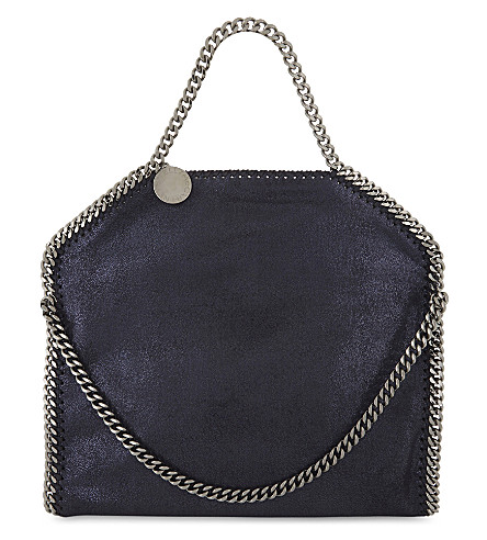 STELLA MCCARTNEY Falabella faux-leather shoulder bag (Ink+navy
