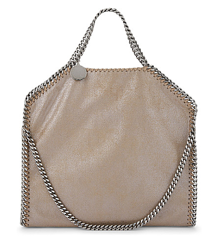 STELLA MCCARTNEY Falabella triple-chain tote (Redwood