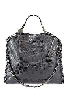 STELLA MCCARTNEY Falabella lizard-embossed tote