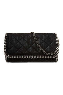 STELLA MCCARTNEY Falabella chain quilted clutch