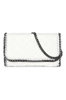 STELLA MCCARTNEY Falabella quilted faux-leather chain clutch