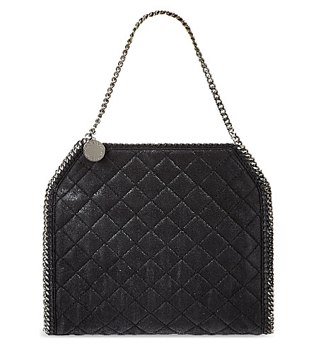 STELLA MCCARTNEY Quilted Baby Bella tote (Black