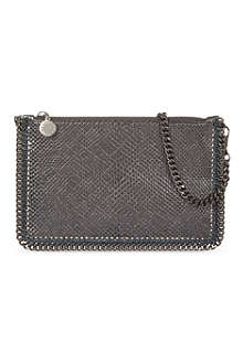 STELLA MCCARTNEY Falabella metallic chain pouch