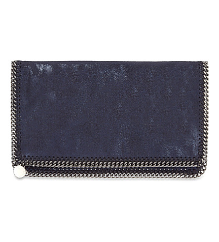 STELLA MCCARTNEY Falabella large clutch bag (Ink