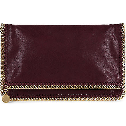 STELLA MCCARTNEY Falabella faux-leather clutch (Plum