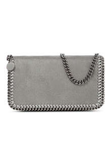 STELLA MCCARTNEY Falabella small faux-suede cross-body bag