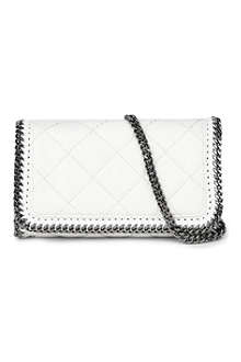 STELLA MCCARTNEY Falabella quilted faux-leather cross-body bag
