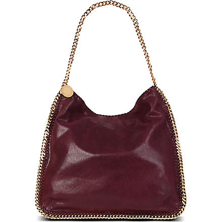 STELLA MCCARTNEY Falabella faux-suede hobo (Plum