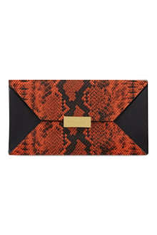 STELLA MCCARTNEY Stella beckett clutch python