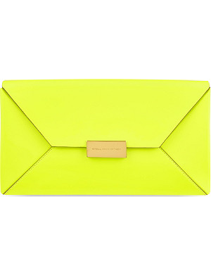 STELLA MCCARTNEY Beckett neon clutch