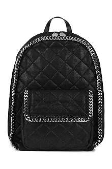 STELLA MCCARTNEY Falabella quilted faux-leather large backpack