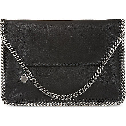 STELLA MCCARTNEY Single chain clutch (Black