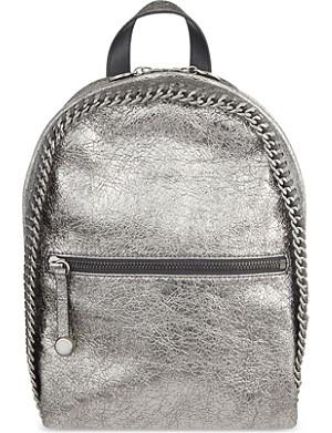 STELLA MCCARTNEY Textured metallic backpack