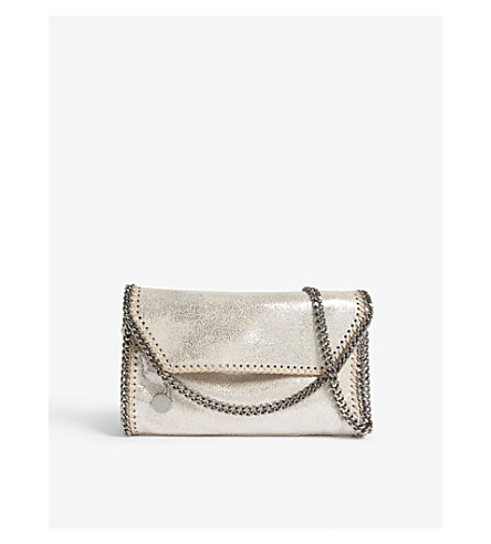 STELLA MCCARTNEY Falabella drop chain cross-body bag (Pale+gold
