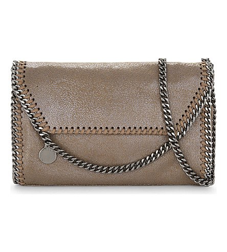 STELLA MCCARTNEY Falabella drop chain cross-body bag (Redwood
