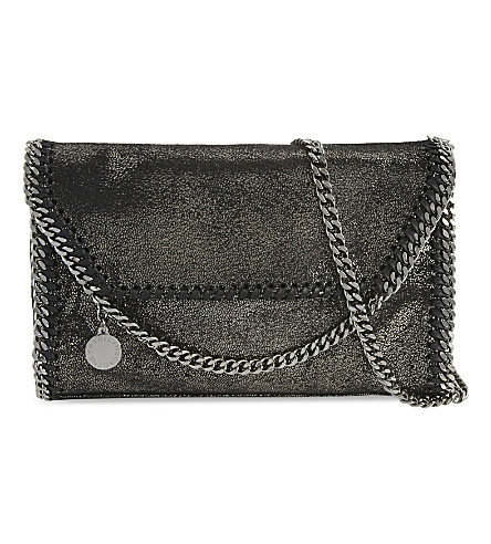 STELLA MCCARTNEY Falabella drop chain cross-body bag (Ruthenium