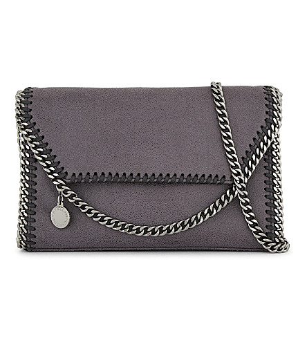 STELLA MCCARTNEY Falabella cross-body bag (Dark+grey