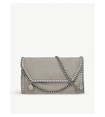STELLA MCCARTNEY Falabella cross-body bag (Light grey