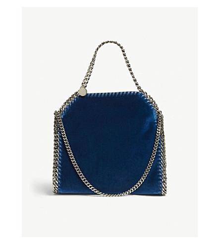 STELLA MCCARTNEY Falabella mini tote bag (Shadow+blue
