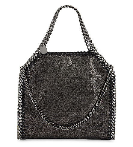 STELLA MCCARTNEY Mini Baby Bella faux-leather shoulder bag (Ruthenium