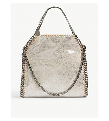 STELLA MCCARTNEY Mini falabella shoulder bag (Pale+gold