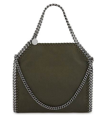 STELLA MCCARTNEY Mini Baby Bella faux-leather shoulder bag (Olive