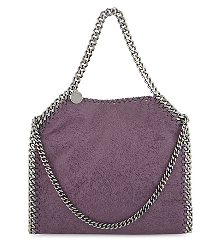 STELLA MCCARTNEY Mini baby bella faux-leather tote (Amethyst