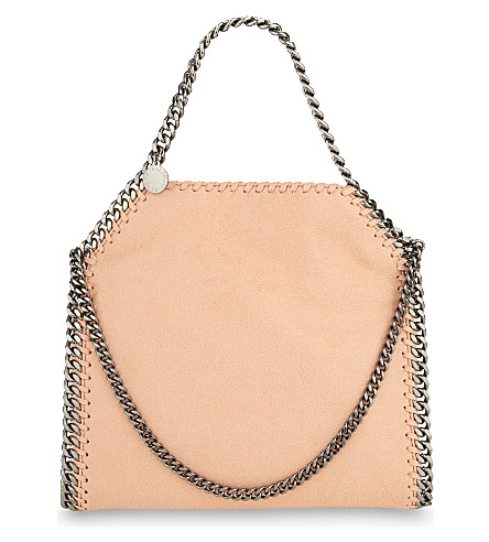 STELLA MCCARTNEY Mini baby bella faux-leather tote (Apricot