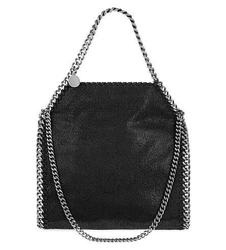 STELLA MCCARTNEY Mini Falabella faux-suede tote (Black