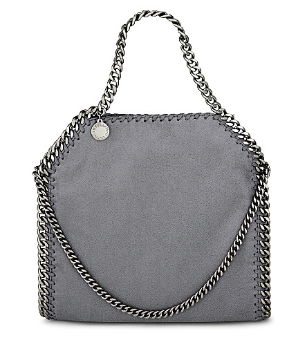 STELLA MCCARTNEY Mini baby bella faux-leather tote (Dark grey