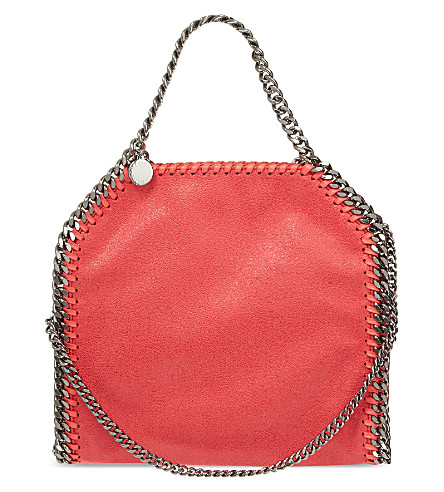 STELLA MCCARTNEY Mini baby bella faux-leather tote (Pink fluro