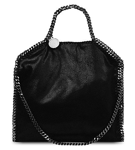 STELLA MCCARTNEY Mini Baby Bella Shaggy tote (Black