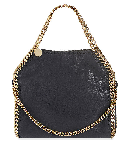 STELLA MCCARTNEY Mini Baby Bella Shaggy tote (Navy