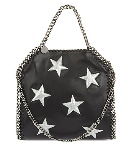 STELLA MCCARTNEY Mini Bella star shoulder bag (Black+silver