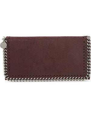STELLA MCCARTNEY Falabella faux-suede continental wallet