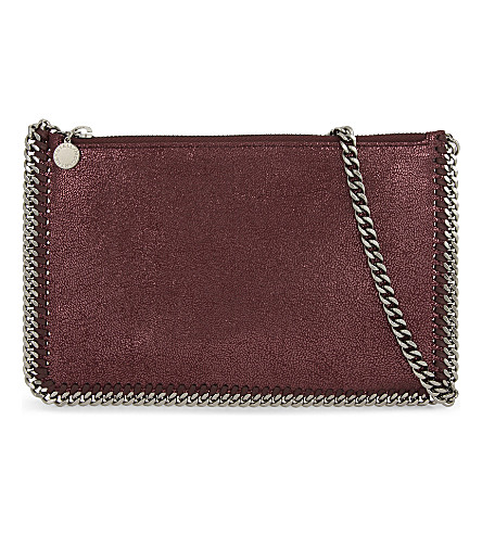 STELLA MCCARTNEY Falabella chain trim pouch (Indian+red