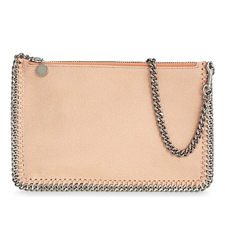 STELLA MCCARTNEY Falabella faux-leather clutch (Apricot