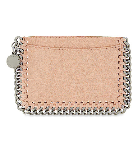 STELLA MCCARTNEY Falabella faux-suede card holder (Apricot