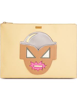 STELLA MCCARTNEY Superhero zipped clutch