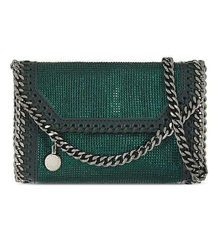 STELLA MCCARTNEY Tiny crystal cross-body bag (Jade green