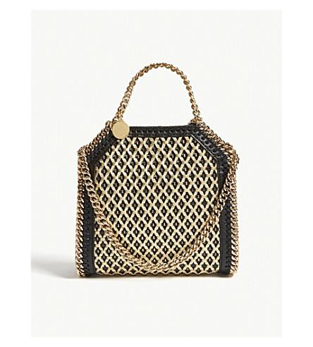STELLA MCCARTNEY Falabella faux-leather cross-body bag (Black+gold