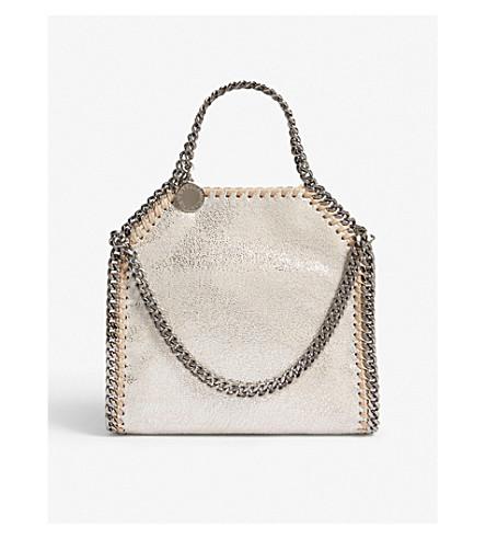 STELLA MCCARTNEY Tiny Falabella shoulder bag (Pale+gold