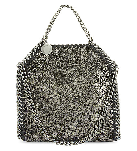 STELLA MCCARTNEY Tiny Falabella shoulder bag (Ruthenium