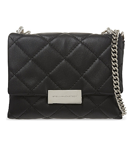 STELLA MCCARTNEY Beckett mini quilted shoulder bag (Black