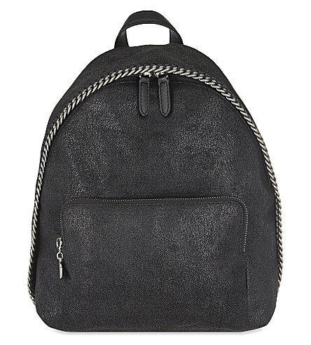 STELLA MCCARTNEY Fallabella mini shaggy deer backpack (Black