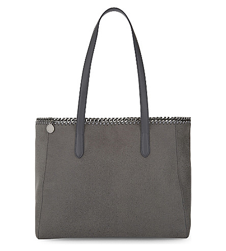STELLA MCCARTNEY East West small tote (Light grey